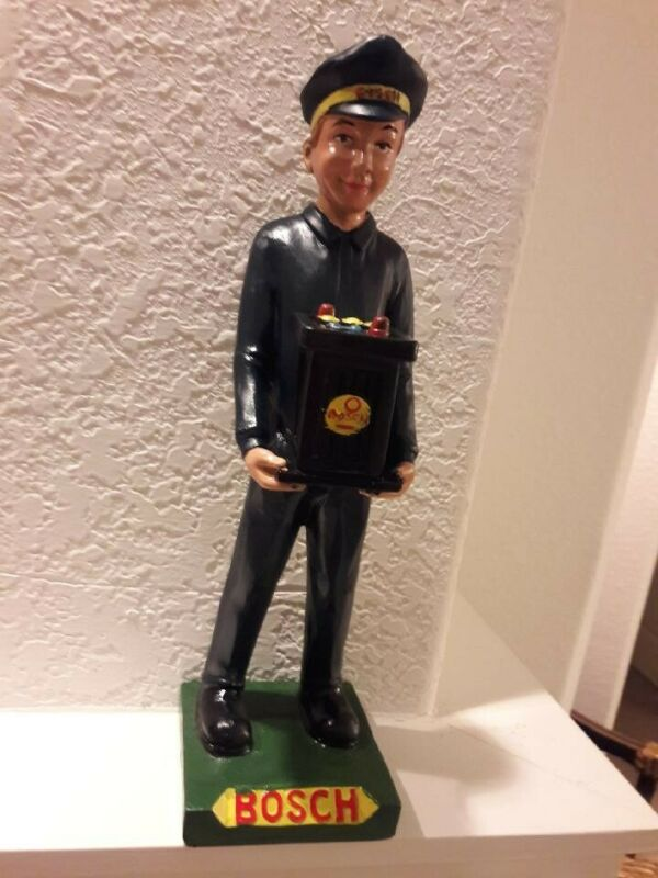 Bosch 6v Battery Gas Station Attendant Statue