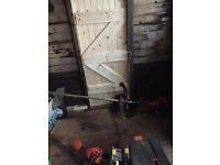 Industrial strimmer and harness