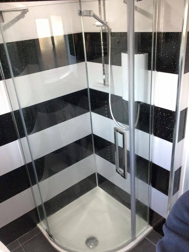 Wet wall Panels Cladding any 10 Panels 45 Black Black Sparkle