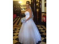 Dylan mcqueen white wedding dress