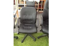 Leather faced desk chairs for sale