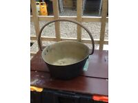 old brass pot come pan