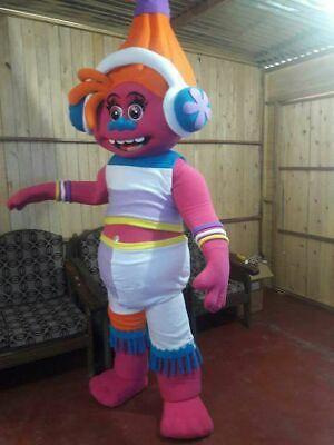 DJ Suki Trolls Movie Mascot Costume Halloween Party Character Adult Suit Gnome