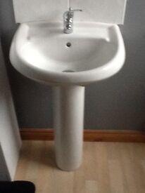 Wash hand basin and toilet