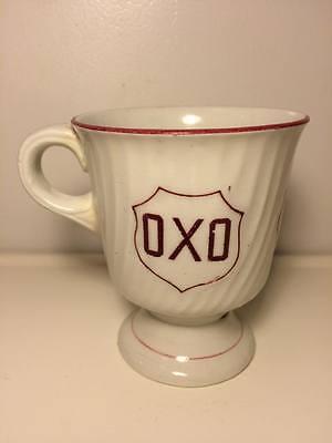 Antique ceramic OXO advertising coffee mug made in England