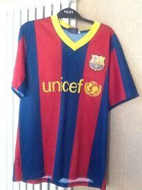 7 Boys Tshirts and 1 Barcelona top (10 Messi)
