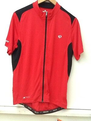 6e35ab216 Pearl Izumi Men s Red Elite Pursuit Cycling Short Sleeve Jersey L Full Zip  NWT