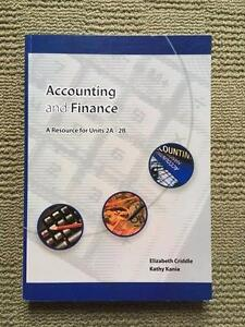 Accounting and Finance Units 2A&2B (ATAR 1&2) Mosman Park Cottesloe Area Preview