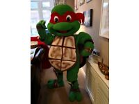 New FULL MASCOT COSTUME fancy dress ADULT DELUXE Ninja Turtles choice of 4 SIZE