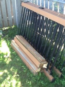 PATIO RAILS WITH FOUR BY FOUR POSTS