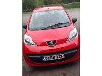 PEUGEOT 107. Only 24,800 miles. 2008. 2 lady owners. Very reliable. 1.0 litre. Great car