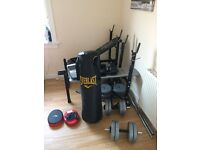 Gym stuff , weight is abouth 80 kg. im looking for 120 £ for all. Phone number 07563503406