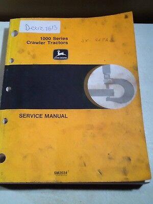 John Deere 1000 Series Crawler Tractors Service Manual Oem