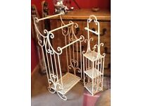 Wrought iron bathroom stands