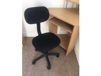 Small Corner Desk with Chair