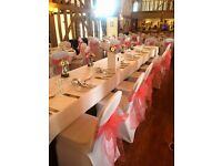 MEGA SALE!! WHITE or BLACK Chair Cover HIRE(70p) / Balloons / Centrepieces! LONDON / ESSEX / KENT