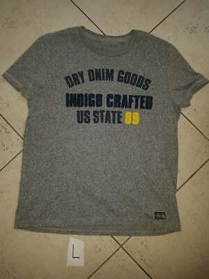 T-shirt homme gris a motif T:L