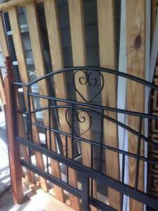 Solid wrought iron timber queen bed with quality firm mattress Chapel Hill Brisbane North West Preview