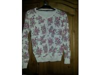 GIRLS JUMPERS/CARDIGANS X8 12-13YRS