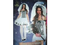 CORPSE BRIDE FANCY DRESS OUTFIT SIZE 10/12 GREAT FOR A HALLOWEEN PARTY