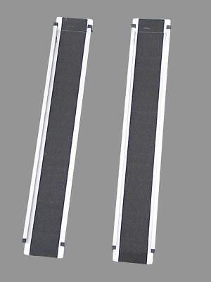 Juego de 2 Rampa Silla Ruedas Aluminio Carril Carga Muelle Salida 200KG
