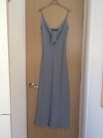 Light blue 100% silk Episode dress, size 6/8, fine rib, never worn