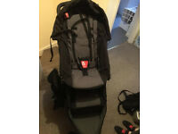 Black phil and teds sport double pushchair
