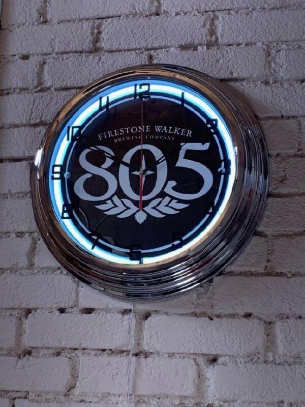 805 beer Neon Clock