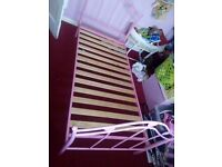 Pink heart bed