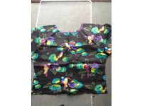Caribbean ladies handmade top and wrap skirt