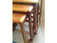 G Plan nest of three tables.Price reduced for quick sale.£38