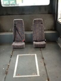 Seats with seat belts