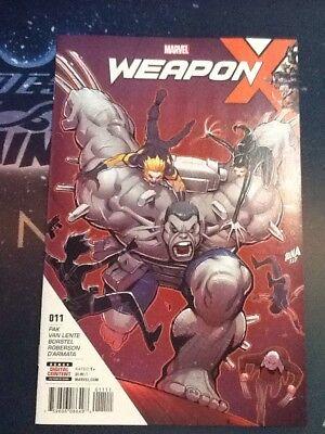 Weapon X  11  2017  First Print Marvel Wolverine Logan  Cbgg026