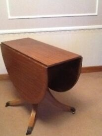 Practical Folding Mahogany Table- Excellent Condition