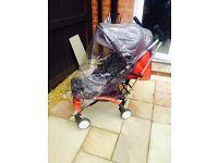 Mothercare Urbanite Pushchair including foot muff, parasol & rain cover