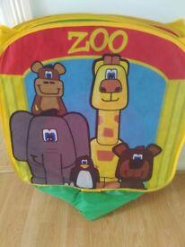 Kids zoo animal play tent/ tunnel