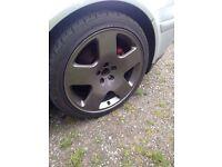 "17"" tt comps 5x100 alloy wheels"