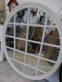 Large Round shabby chic window mirror !!