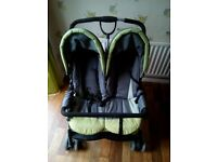 Double Buggy with rain covers ONLY £55.00