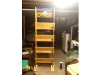 Sturdy wooden wine rack -6' X 4' 10''