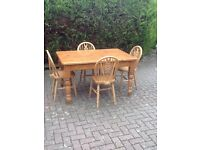Pine kitchen dining set