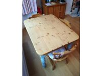 Beautiful Solid Pine Table & Chairs Perfect for any Kitchen or Dining Room