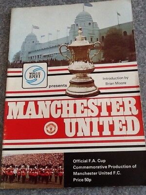 Official FA Cup Commemorative Production of Manchester Utd - 1977 FA Cup Final