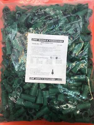 Green Double Winged Twist Nut Wire Connectors Grounding Ground 500 Pack