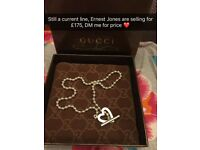 Gucci Heart Toggle Necklace