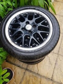 "BBS Wheels 15"" with 3 new Tyres for Lupo, Polo, Golf. Original, used."