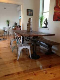 Adjustable Height Jack dining Table #ReclaimedTimber #Industrial