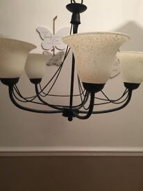 5 arm light fitting/chandelier by Poole lighting. Vintage.