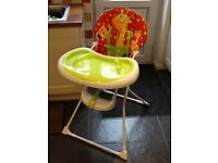 High chair Mothercare excellent condition