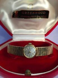 Stunning Ladies Omega 9ct Gold Watch and a solid 9ct gold Bracelet,